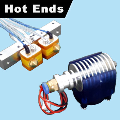 3D Printer Hot Ends and Extruders